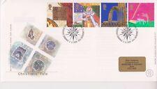 No se han abordado GB Royal Mail FDC 1999 cristianos's Tale sello conjunto Fife PMK Pegatina