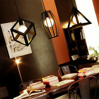 Industrial Vintage Chandelier Ceiling Light Pendant Kitchen Bar Fixture Lamp  a