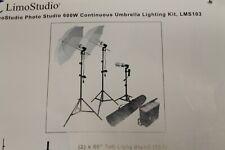 Limostudio 600W Output Lighting Series LMS103 Complete Lighting Kit Open Box -B3