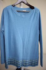 Talbots Rayon Blend Multi-Colored Thin Thickness Crew-neck Sweater Size - XL