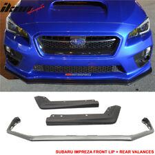 Fits 15-18 Subaru WRX STI V Limited PP Front Bumper Lip + OE Rear Valance