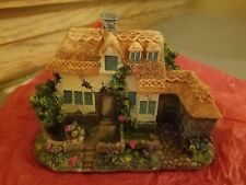 K's Collection Decorative House Miniature Vintage Blue Windows House Christmas T
