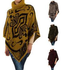 cac6a829412cb9 Damen-Pullover & -Strickware im Ponchos-Stil mit Rollkragen aus Wolle