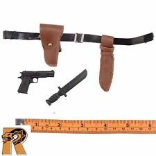 Helicopter Crewman - Belt Set w/ Pistol & Knife - 1/6 Scale - SOW Action Figures