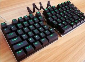 Separate Split Mechanical Keyboard Full Key Programmable Custom Button Light USB