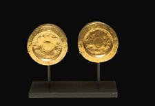 IMPORTANT Pre-Columbian Gold Sican Earspools Ca. 800-1000 A.D.
