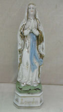 antike Figur 20 cm aus Porzellan Lourdes Madonna um 1920