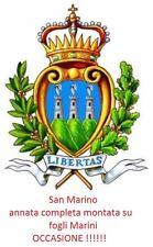 San Marino - 1981/1989 - Annate complete nuove MNH - montate su fogli Marini