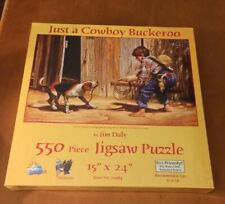 SunsOut 550 Piece Puzzle Called Just A Cowboy Buckeroo By Jim Daly