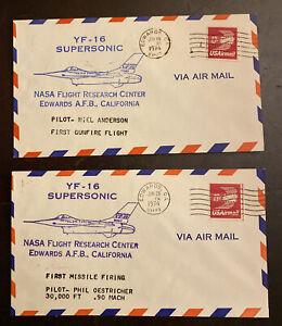 1974 Test Flight Cover Lot YF-16 121-42