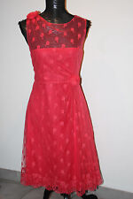 VALENTINO Night Out Lace Rosette Embellishment Dress sz 12-14 /IT 48 $5110 ~NEW~