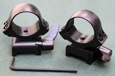 WEAVER Quick Detach rifle scope mounts, 30mm rings, STEEL MATTE.