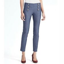 NWT $98 Banana Republic Banana Chambray Sailor Sloan Skinny Pants Size 6