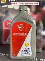 Ducati Olio Shell Advance 4T Ultra 15W-50 1 LT 100% SINTETICO 944650035