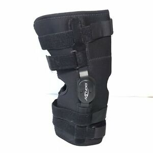 DONJOY Stretch Protective Knee Sleeve Large Black Hinged Wrap Around Support
