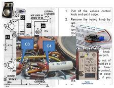 Zenith Royal 500 Hand Wired Electrolytic Recap Kit C 7XT40 (1 & 2) 7XT40Z and Z1