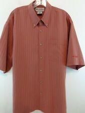 COLUMBIA GRT Men Short Sleeve Button Down Shirt Sz XL Red
