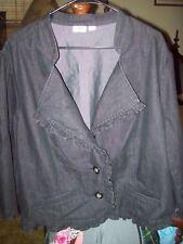 Cute Woman's Cato Plus Black Short Ruffled Coat  Size 26/28  EUC