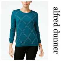 ALFRED DUNNER STUD EMBELLISHED SWEATER PULLOVER  TOP   Sz PS  NWT  $ 54