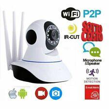 TELECAMERA IP CAM WIFI HD 1080P WIRELESS LED 3 ANTENNE 2MP IR MOTORIZZA wi-fi