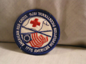 1976 AMERICAN RED CROSS AMERICAN REVOLUTION BICENTENNIAL PATCH