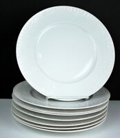 Eight Salad Plates Furstenberg made in Germany White Embossed 9""