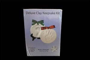 Proud Baby Deluxe Clay Keepsake Kit -Air Dry Clay - Makes 2 Keepsakes-w/Glaze