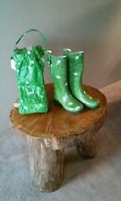 Girls Daisy Grass Print Rubber Boots And Bag Size 6 Germany