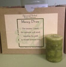 Money Draw~ Power Votive~Metaphysical~Wicca~ Bring in the $$$