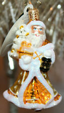 New ListingChristopher Radko Glass Christmas Ornament ~ Golden Journeys Gem ~ Gold Santa