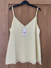 Ladies George Yellow/lemon Strappy/vest Top Size 14 BNWT
