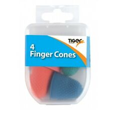 Set Of 4 Rubber Finger Cones - Thimble Thimblettes Counting Paperwork Office