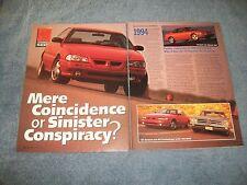 1994 Pontiac Grand Am GT Vintage Prototype Show Car Vintage Article