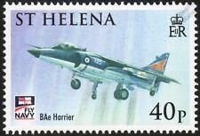 Royal Navy BAe SEA HARRIER Jump Jet Aircraft Stamp (2009 St Helena)