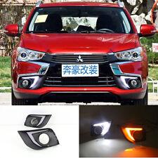 DEL DRL Daytime Running Light Yellow Turn Signal Lampe Pour Mitsubishi ASX 2016-17
