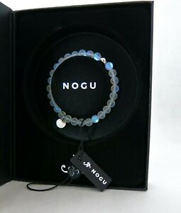 NIB NOGU MOONSTONE (WHITE) MERMAID GLASS STERLING SILVER BRACELET