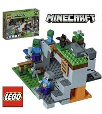 LEGO MINECRAFT The Zombie Cave Kids Christmas Gift Boys 241 Piece Building Kit