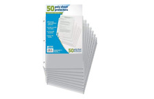 50 Sheet Protectors Document Paper Clear Sleeves Plastic Page Protect 85 X 11