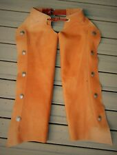 CUSTOM HANDMADE ~ NEW ~ MEN'S LEATHER CHAPS WITH SILVER DOLLAR CONCHOS