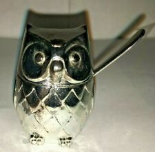 Oneida Magnifying Glass Owl Sitting On A Branch Design Silverplate Japan Vintage
