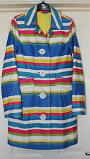 Boden Rainbow Striped Coat Size 10 Smart