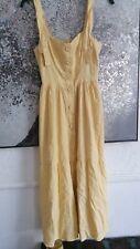 Urban Outfitters Yellow Utility Midi Dress size XS 6/8 new linen