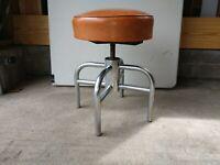 Vintage chrome mid-century modern adjustable stool