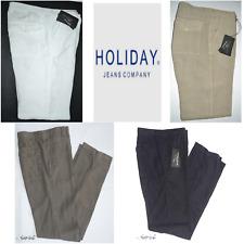 Pantalone moda uomo HOLIDAY 46 48 50 52 54 56 58 60 puro lino 100% estate Novità