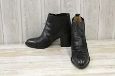 Sofft Welling Leather Almond Toe Ankle Boots, Women's Size 8.5 M, Black