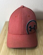 Under Armour Youth Hat Cap Stretch Fit SM/MD Salmon Como Embroidered Logo EUC