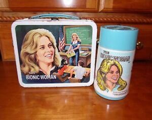 1978 The Bionic Woman Lunch Box w/Matching Thermos-Aladdin