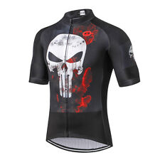 Men's Cycling Jersey Pro Team Sports Bike Short Sleeve Clothing Punisher S-3XL