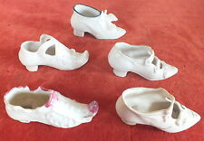 5 chaussures collection anciennes porcelaine souliers shoes