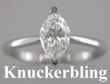 Marquise White Engagement Fine Diamond Rings